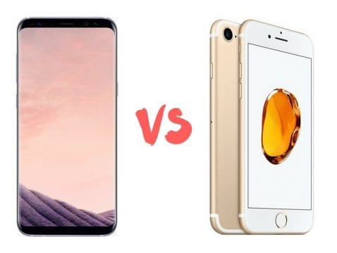 Galaxy S8 vs iPhone 7, comparativa de especificaciones