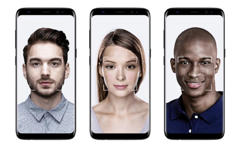 Reconocimiento facial en el Galaxy S8