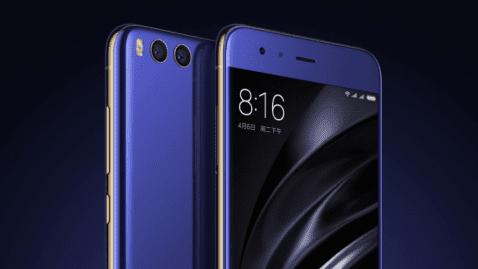 Frontal y trasera del Xiaomi Mi 6