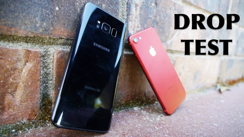 Test de caídas Galaxy S8 vs iPhone 7 Red