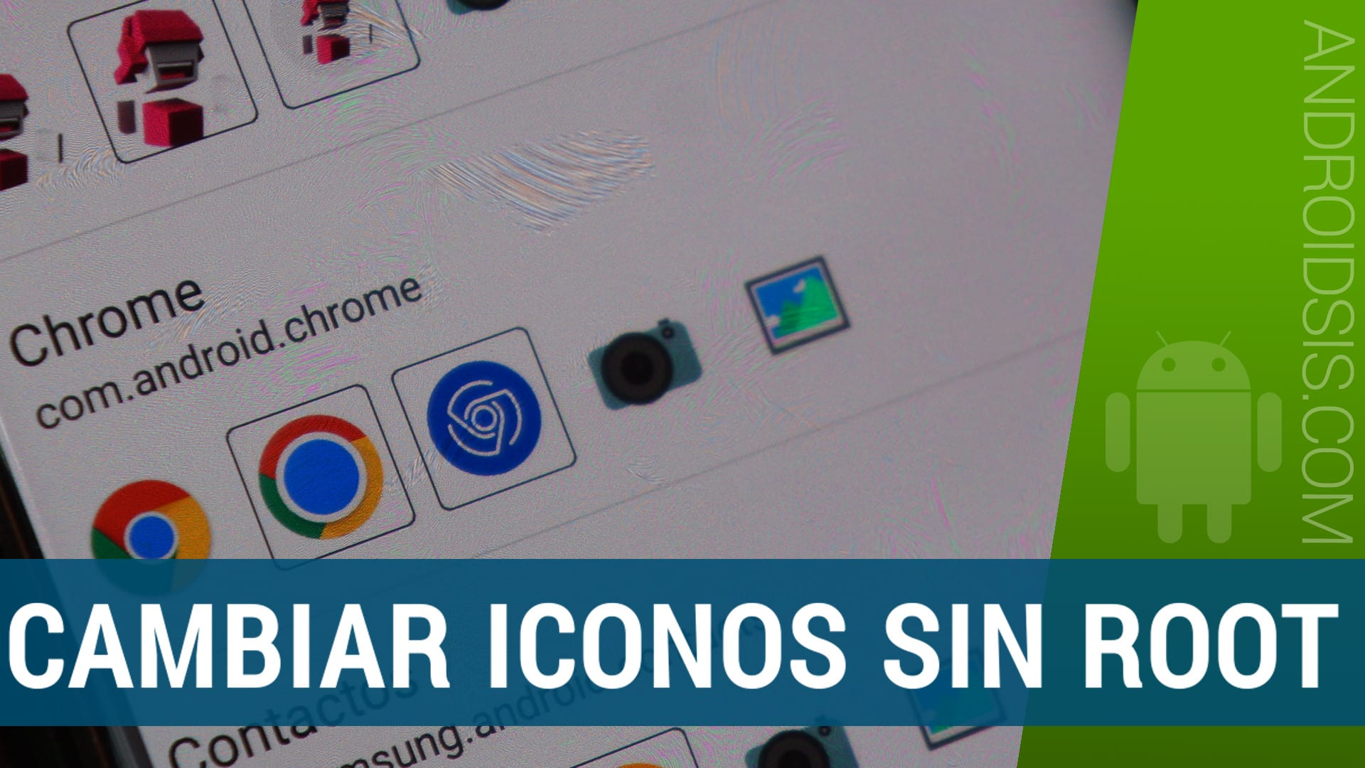 Cambiar iconos Android,