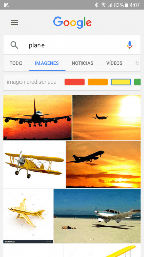 Google para Android - Filtros de color