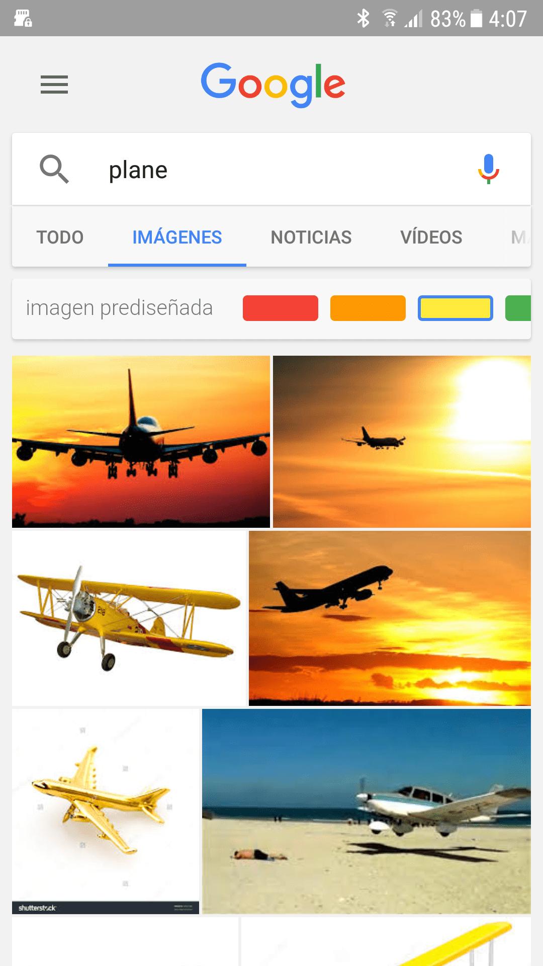 Google para Android - Filtros de color