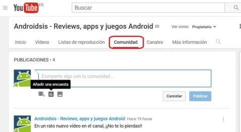 ¡¡Bienvenidos a la comunidad de You Tube de Androidsis!!