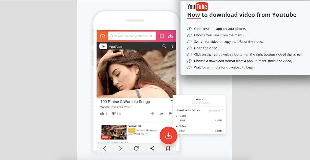 InsTube una muy buena opción para descargar vídeos de Youtube