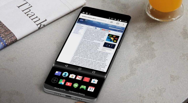 Concepto del LG V30 con pantalla deslizante