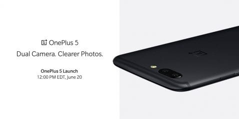 Render oficial del OnePlus 5