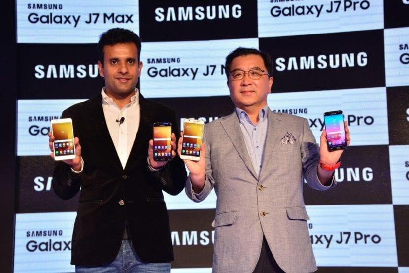 Presentación de los nuevos Samsung Galaxy J7 Pro y J7 Max en la India