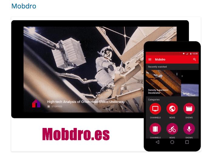 Descargar última versión MOBDRO