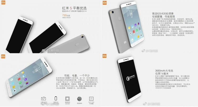 Filtrados el precio y especificaciones del Xiaomi Redmi 5