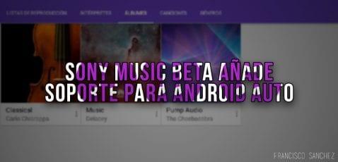 Sony Music beta añade soporte para Android Auto