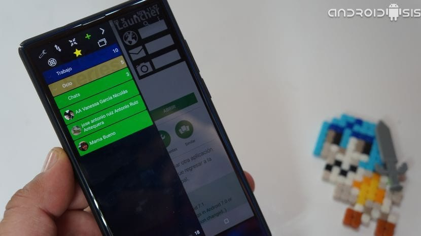 Espectacular Launcher Android estilo barra deslizante