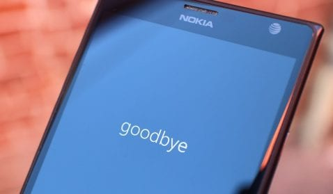 Goodbye windows phone