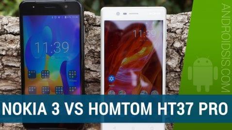 Nokia 3 VS Homtom HT37 Pro