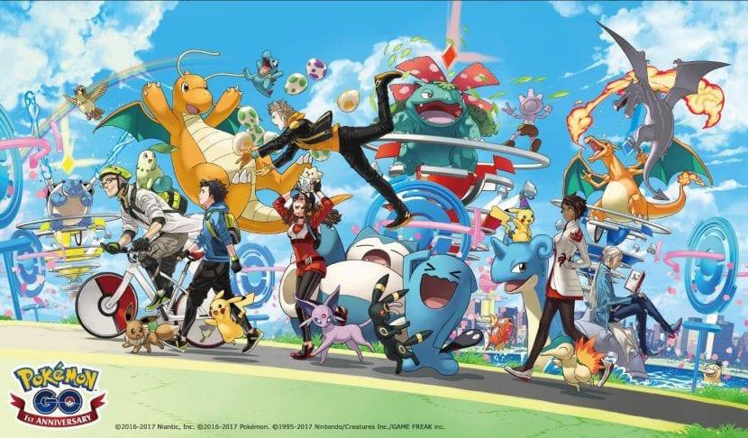 Aniversario del lanzamiento de Pokemon GO