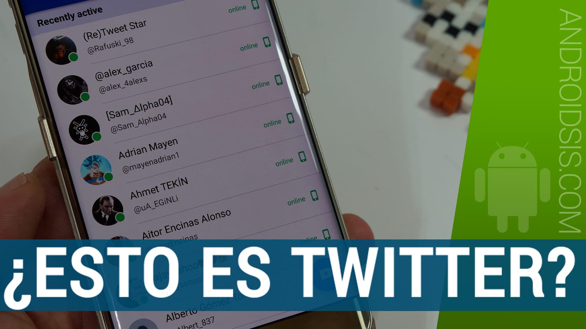 ¿Es WhatsApp?, ¿Es Telegram?. No, ¡¡es TWITTER estilo WhatsApp!!