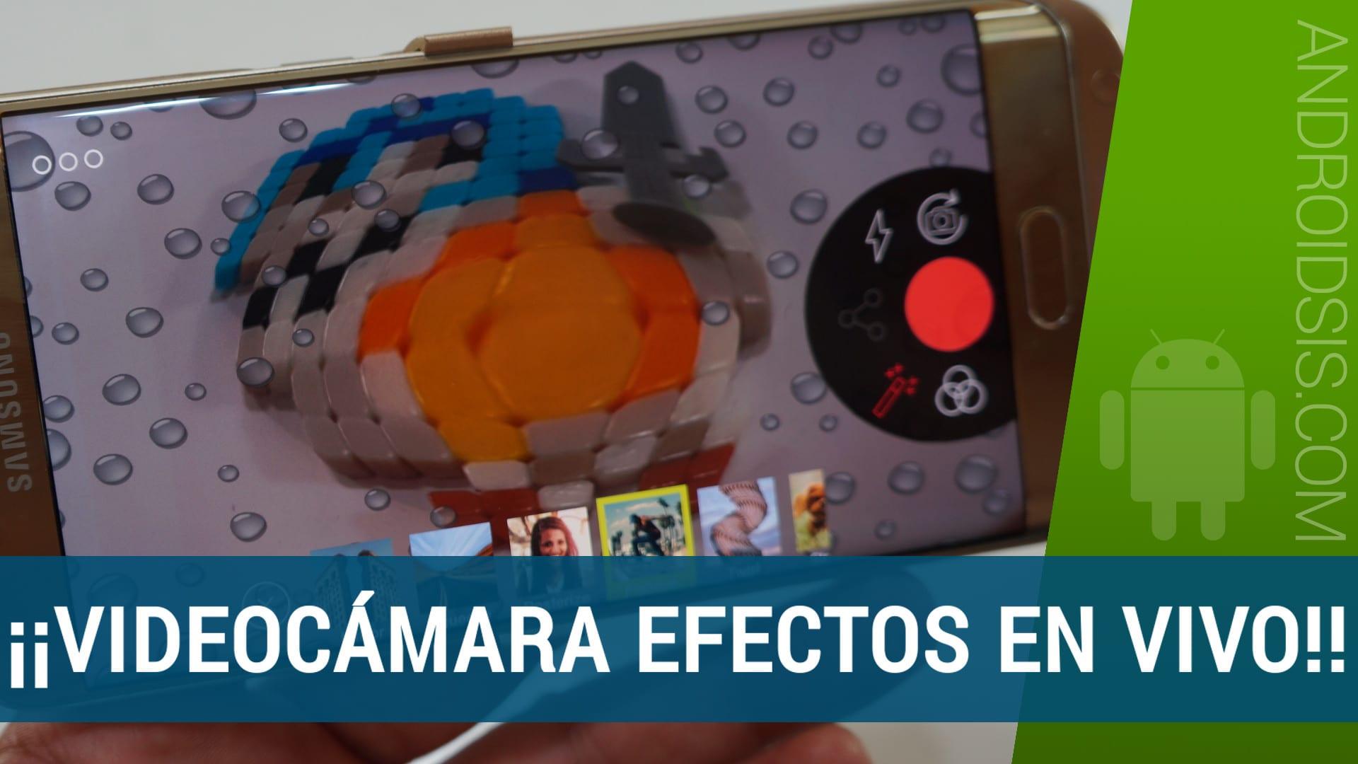 Videona, una videocámara gratis con efectos en vivo