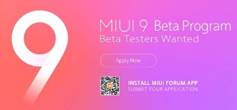 MIUI 9 Beta