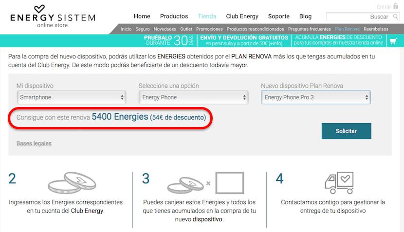 Descuento Energy Phone Pro 3