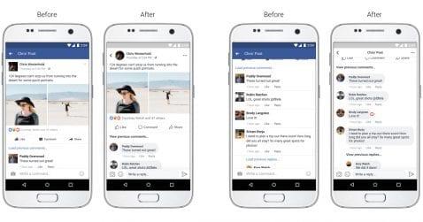 Nueva interfaz de Facebook 2017