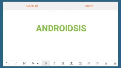 Firma de correo en Android