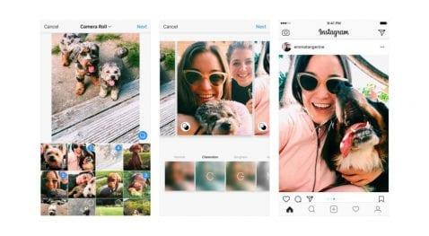 Álbumes de foto en Instagram