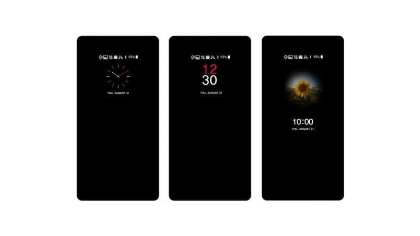 Interfaz del LG V30