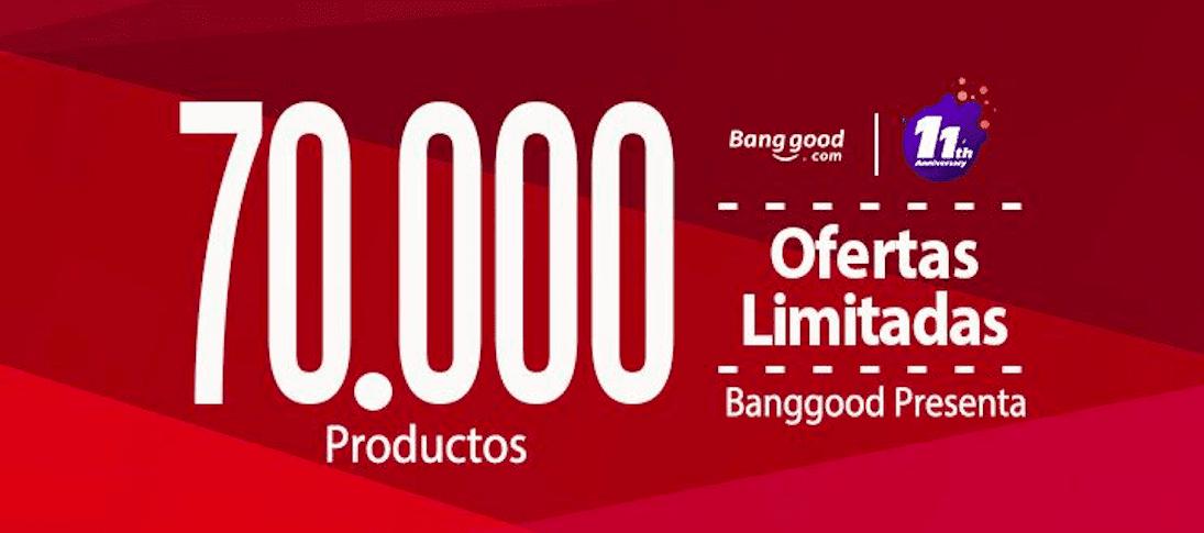 3 Días de ofertas locas para celebrar el undécimo aniversario de Banggood