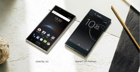 OUKITEL K3 y Sony Xperia XZ Premium, dos smartphones parecidos pero diferentes