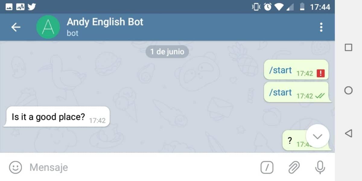 Bot de Telegram para para aprender inglés