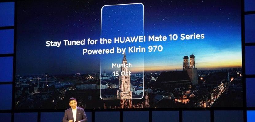 El Huawei Mate 10 y Mate 10 Pro serán presentados el 16 de octubre en Munich e incluirán el nuevo procesador Kirin 970 con capacidades de Inteligencia Artificial