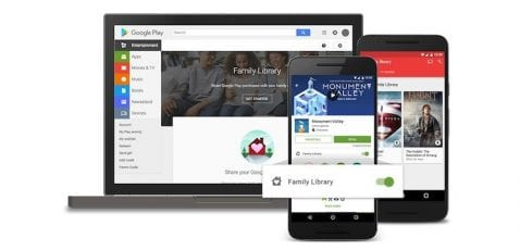 Google Play Family Library se expande a otros 9 países