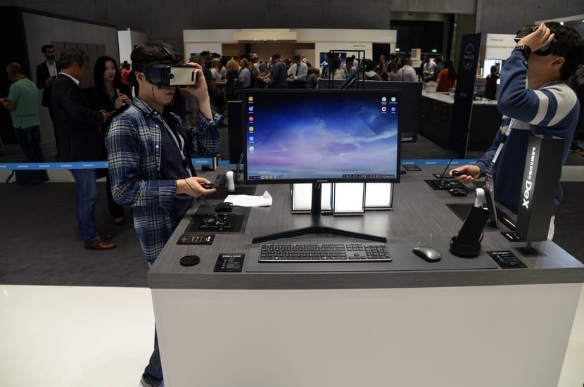 escritorio del Samsung Dex Station