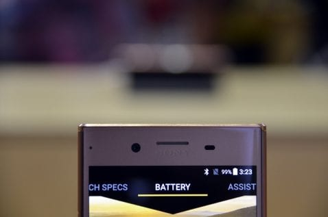Cámaa frontal del Sony Xperia XZ Premium