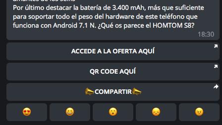 Cómo crear elegantes mensajes con botones en Telegram