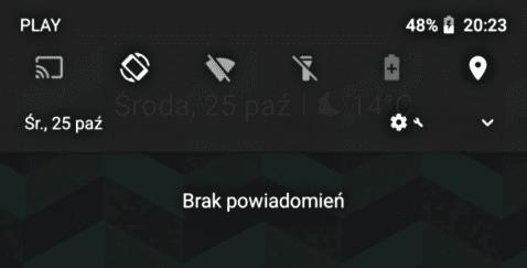 Barra de ajustes rápidos Android 8.1