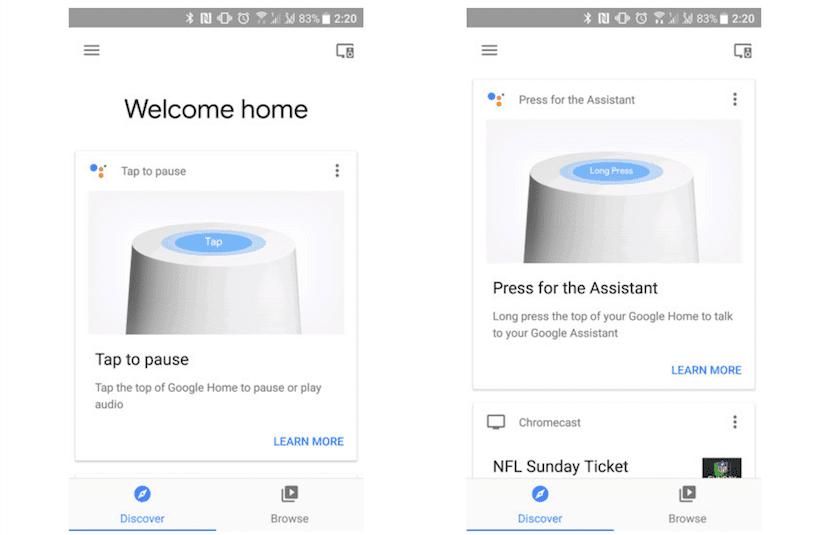 Google Home Discover