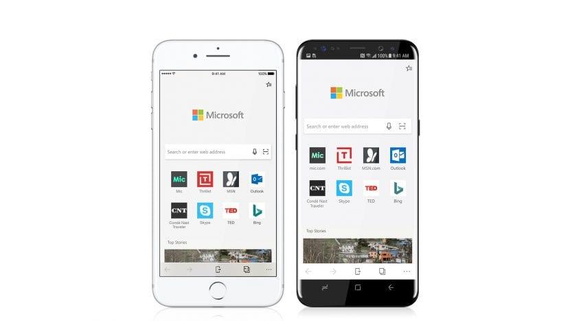 Microsoft Edge para iPhone y Android