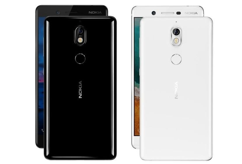 Nokia 7 Blanco y Nokia 7 Negro
