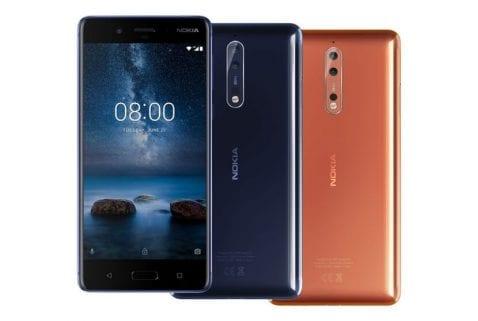 Colores Nokia 8