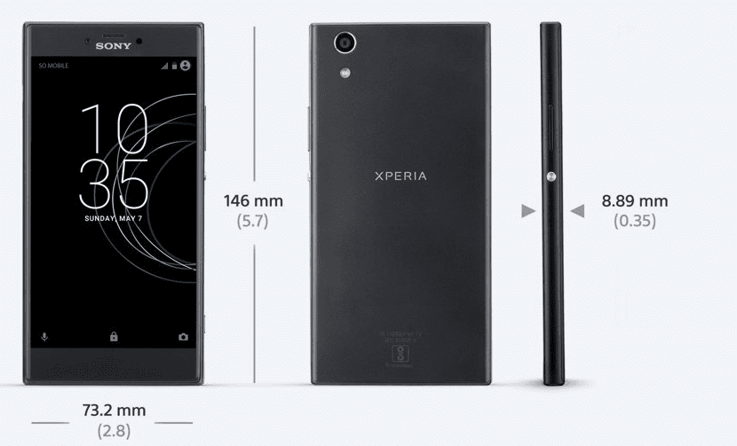 Dimensiones Xperia R1 Plus