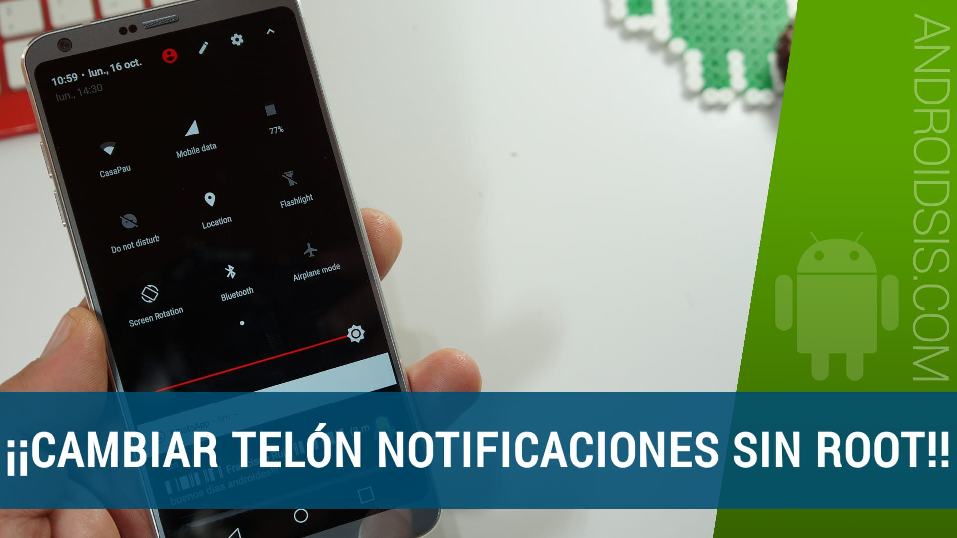 Personalización Android: Hoy, cómo cambiar telón notificaciones sin ROOT