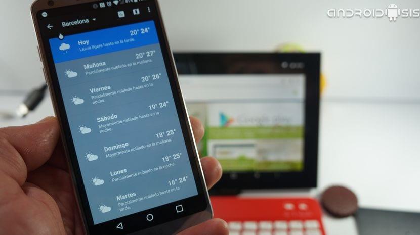 Espectacular aplicaci n del tiempo para android trucos for Aplicacion del clima
