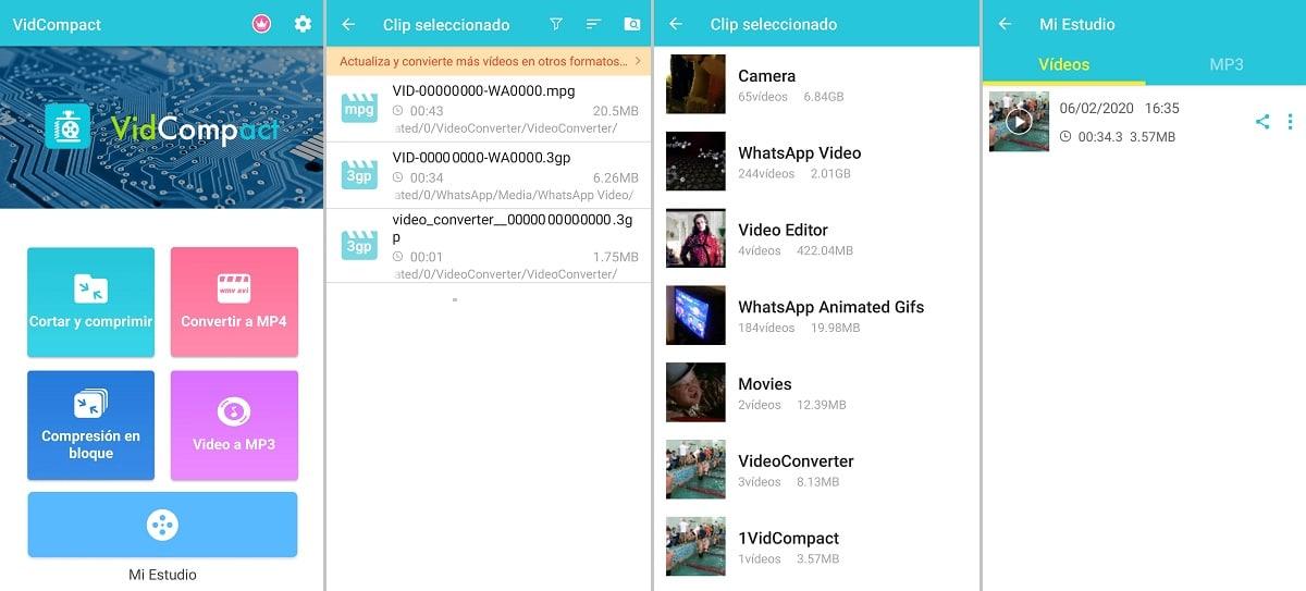 VidCompact conversor de archivos de vídeo a vídeo MP4