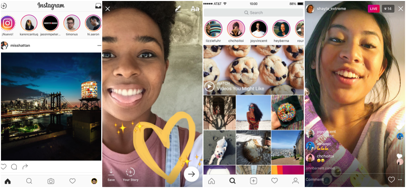 Instagram nos permite compartir fotos y videos