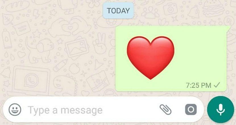 Nuevo Corazón rojo de WhatsApp