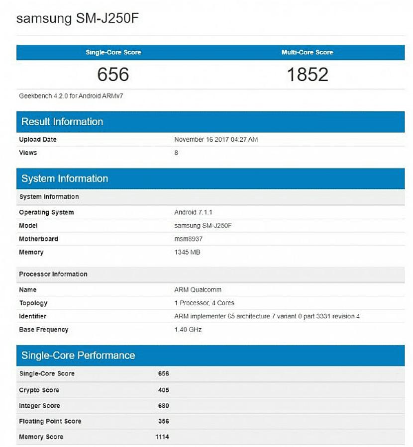 El Samsung™ Galaxy™ J2 pro 2018 será mas potente que su antecesor