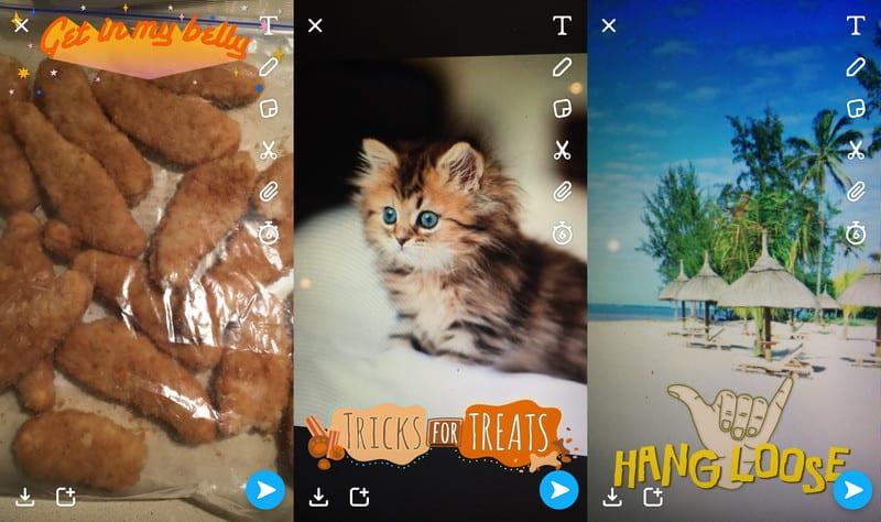 Nuevos filtros Snapchat