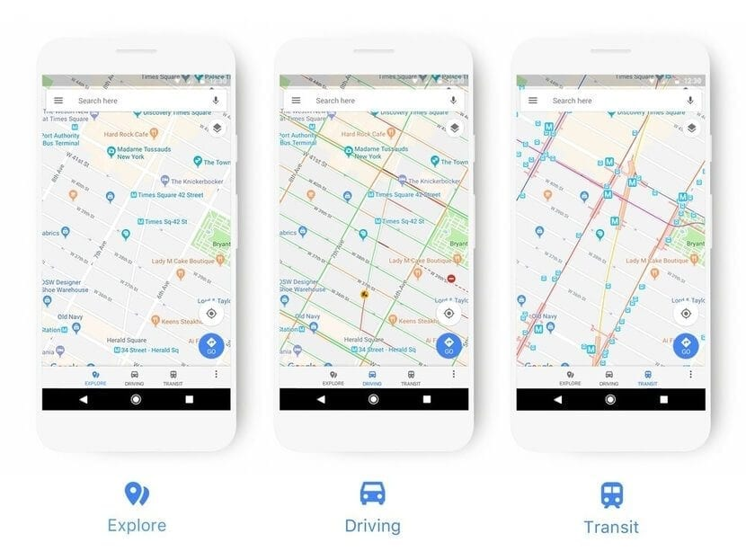 Nuevo diseño Google Maps