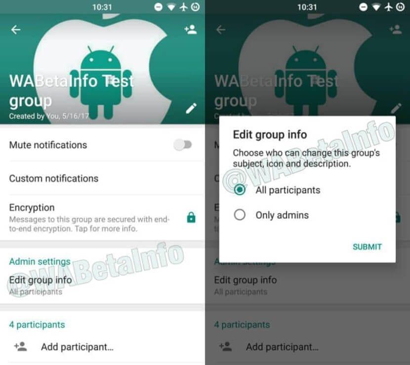 Novedades grupos WhatsApp